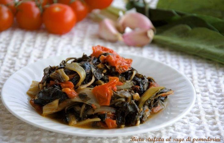 Bieta+stufata+in+sugo+di+pomodorini
