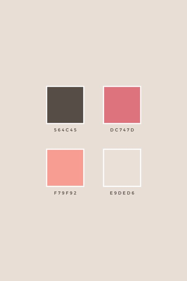 Pre Made Branding Package Buttercream Color Palette Bright Hex