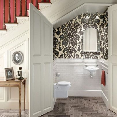 Under Stairs Bathroom Design dont love the toilet but get it has to be small