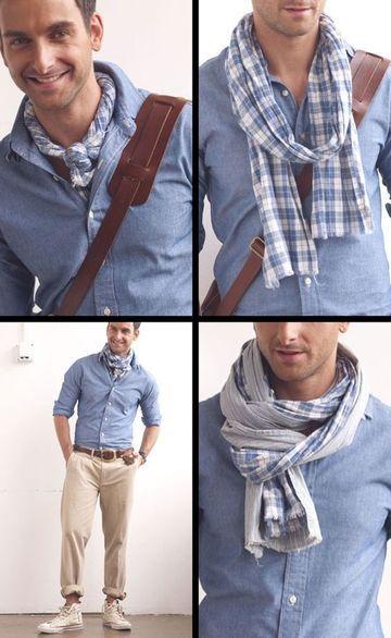 26a8c3de8 Cómo llevar pañuelos de cuello para hombre para toda ocasión ...