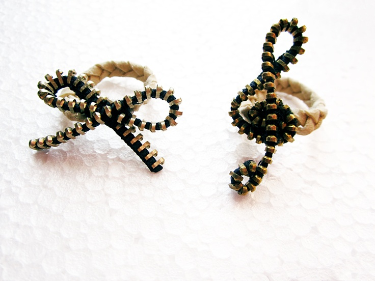rings made from zipper