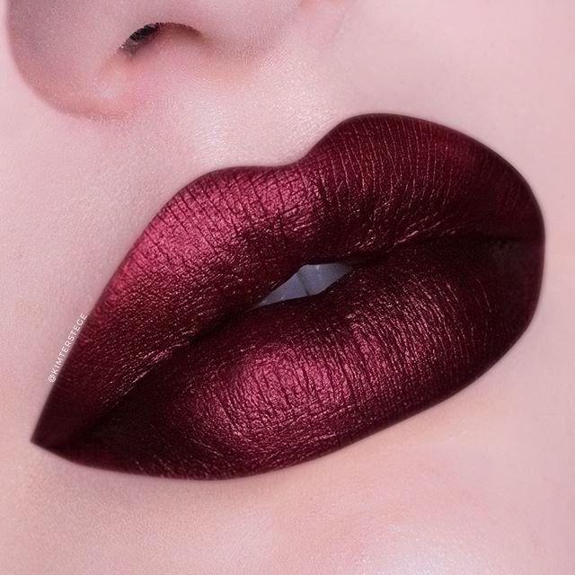 Shiny Burgundy Red Lips Bestlipmakeup Burgundy Lips