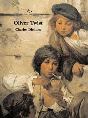 OLIVER TWIST de Charles Dickens (1812-1870) fue publicada por entregas en 1837. Es la historia de Oliver, criado en un hospicio, empleado y maltratado en una funeraria que escapará rumbo a Londres y seguirá sufriendo el abuso y la injusticia de muchos pero también encontrará diferentes protectores descubríéndonos así el lado idílico y sentimental de la historia. Las novelas de Dickens destilan crítica social. Criticaba la pobreza y la estratificación social de la sociedad victoriana.
