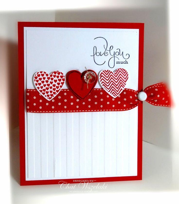 Прикольные легкие, открытка с сердечками скрапбукинга