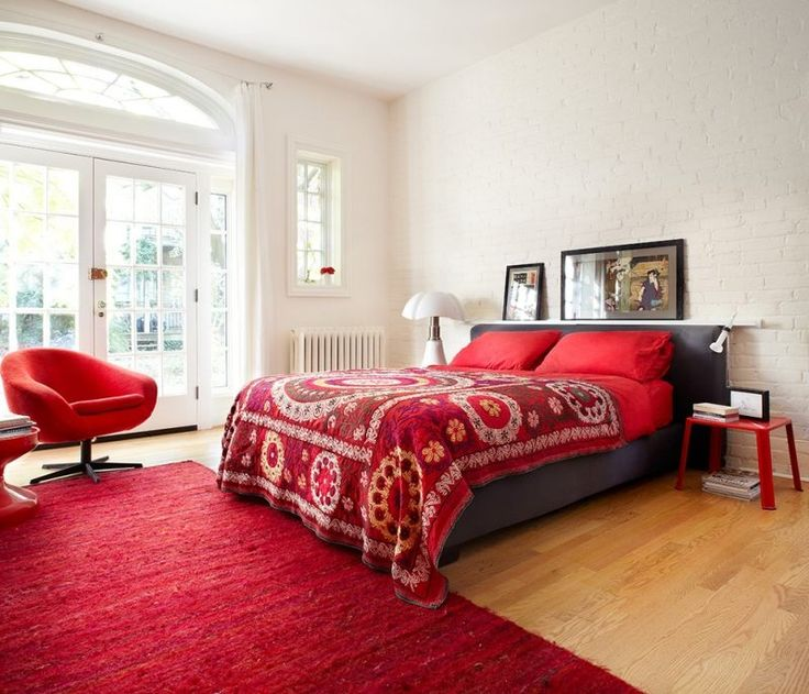 Inspiration chambre adulte rouge for Inspiration chambre adulte