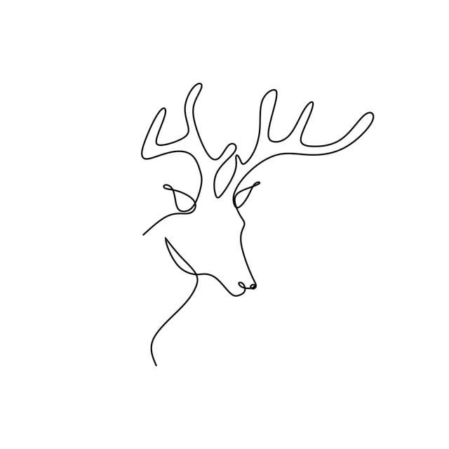 Continuous Line Drawing Of A Deer Head Line Icon Sketch Png And Vector With Transparent Background For Free Download Animal Line Drawings Simple Line Drawings Continuous Line Drawing
