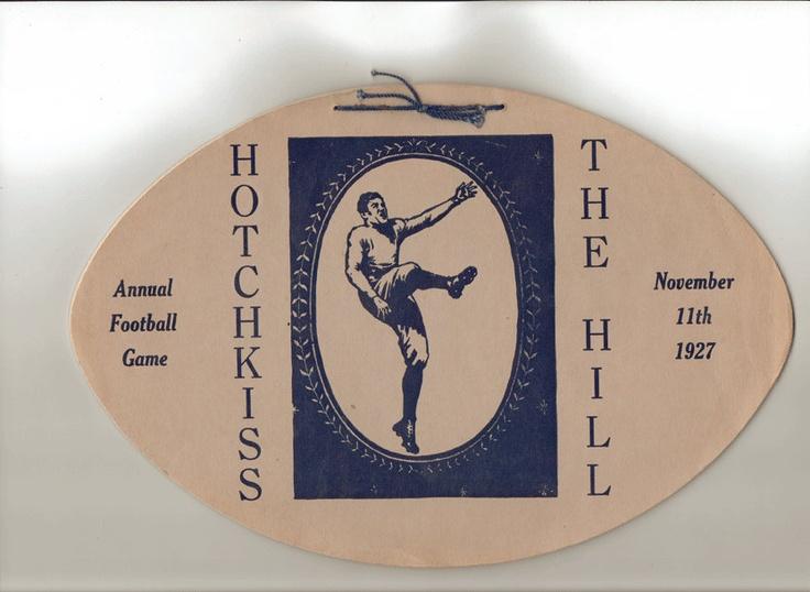 Vintage Football Shaped Game Program - High School Football - Hill vs. Hotchkiss 1927 Pottstown, PA. $34.99, via Etsy.