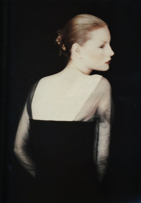 Kirsten Owen photographed for Romeo Gigli by Paolo Roversi, Fall 1988.