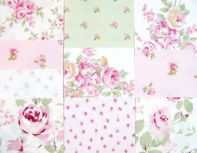 Rachel Ashwell Simply Shabby Chic Quilt Squares Fabric-love this look