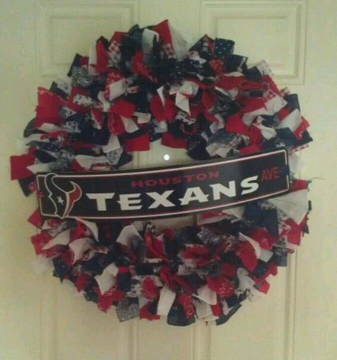 Houston Texans fabric wreath