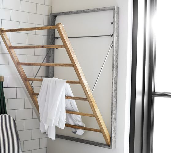 Galvanized Laundry Drying Rack Pottery Barn Com
