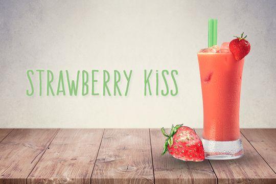 Cocktails für Kinder: Strawberry Kiss - Bilder