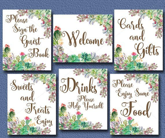 Peachwik Wedding Printable Wedding Cactus Rustic Guest book Printable Succulent Guest Book 175 guests Cactus Wedding Baby Shower