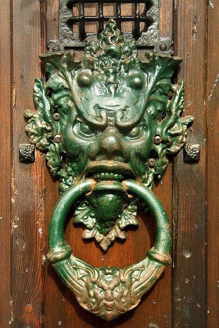 Scary door knocker!