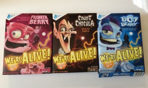 Count Chocula Boo Berry Frankenberry cereals General Mills - http://home-garden.goshoppins.com/food-beverage/count-chocula-boo-berry-frankenberry-cereals-general-mills/