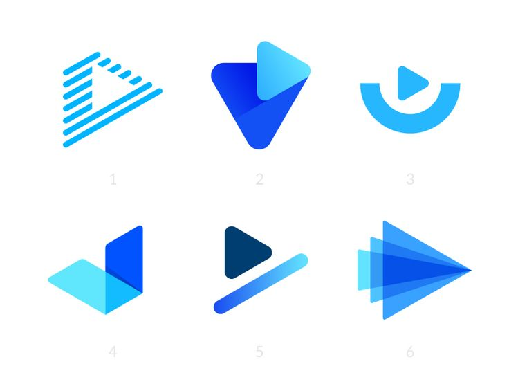 Logo concepts for video marketing app by Vadim Carazan