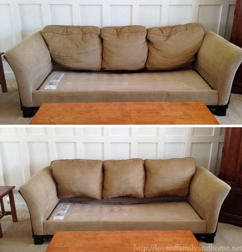 Her couch was saggy after years of use. An hour later, it was fixed!