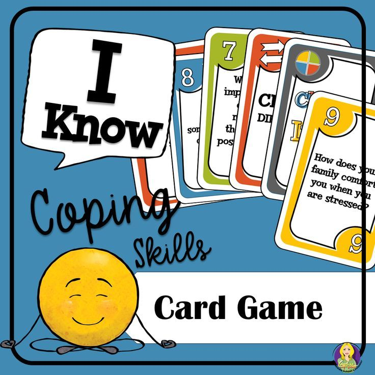Coping Skills Card Game--help teach your students healthy coping skills!