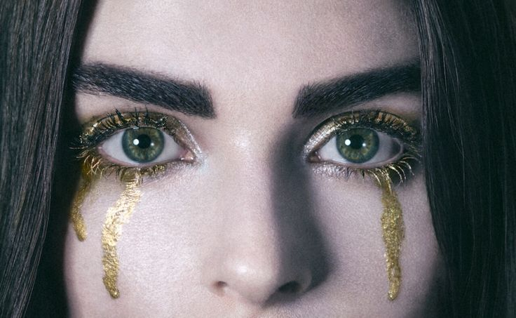 "Tears of gold represent how money can be your downfall in my eyes. Even the richest person can be completely poor in happiness. ""Money cannot buy happiness""."