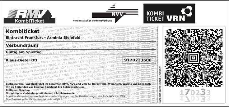 Eintracht Frankfurt - Print@Home | RMV Kombiticket