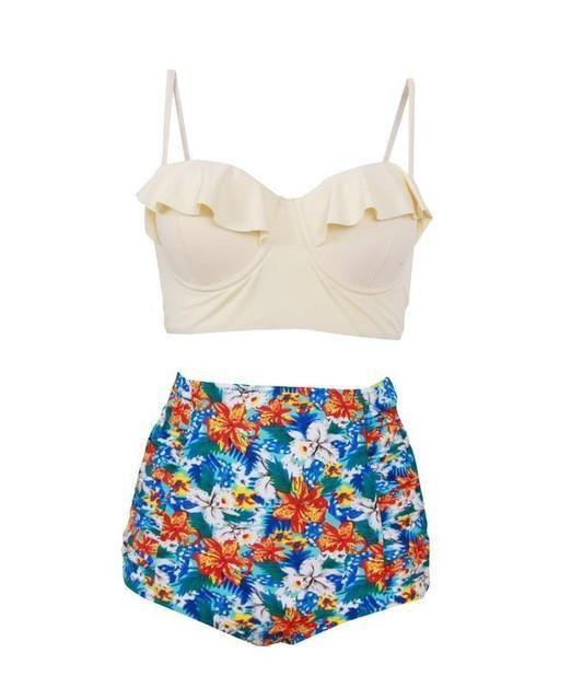 Vintage Plus-Size Two-Piece Swimsuit