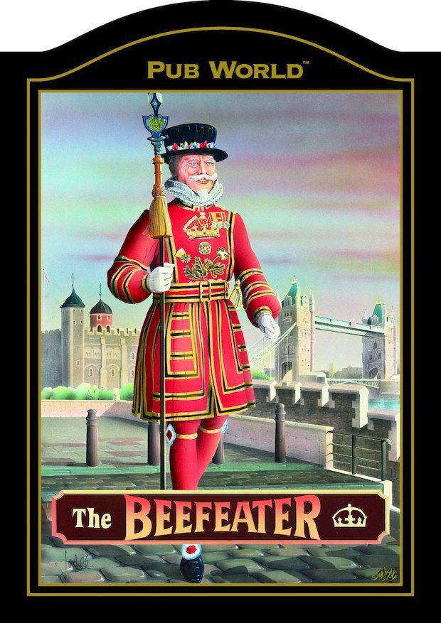 BEEFEATER Traditional British Pub Sign > Pub Memorabilia | Home ...