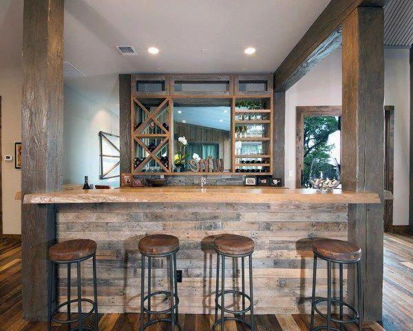 Build A Mancave Bar Rustic Basement Modern Home Bar Rustic Bar