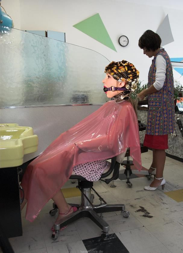 plastic see through chair gliding rocker bondage in the hairsalon | pics pinterest forced haircut, haircuts and hair makeup