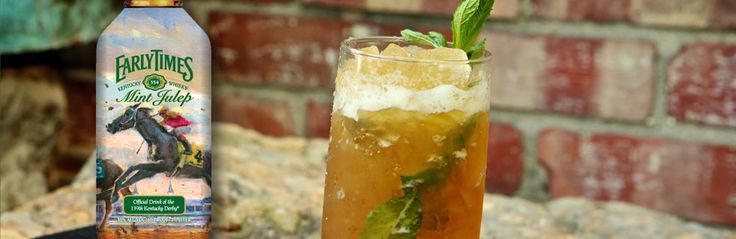 Recipe Central   The Early Times Mint Julep Official Drink of the KY #derby http://www.kentuckyderby.com/party/food-and-entertainment/libations/early-times-mint-julep