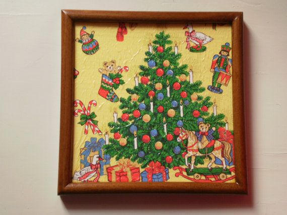 christmas frame / free combined shipping by KaterinakiJewelry