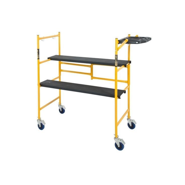 MetalTech I-IMCNT Mini Rolling Scaffold with Tool Shelf, 500 lbs. Capacity