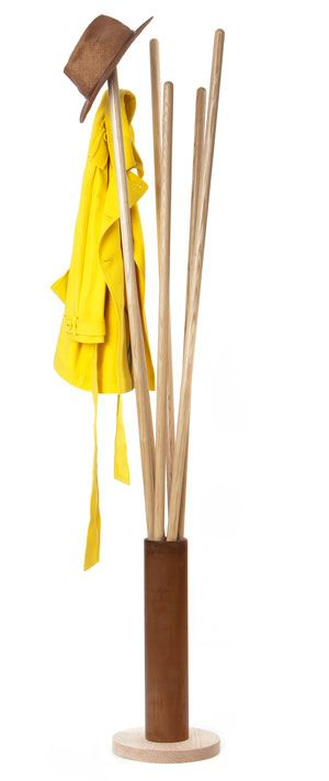 Steuart Padwick | Products | Sticks Coat stand.  A design like this would work well in a small space.