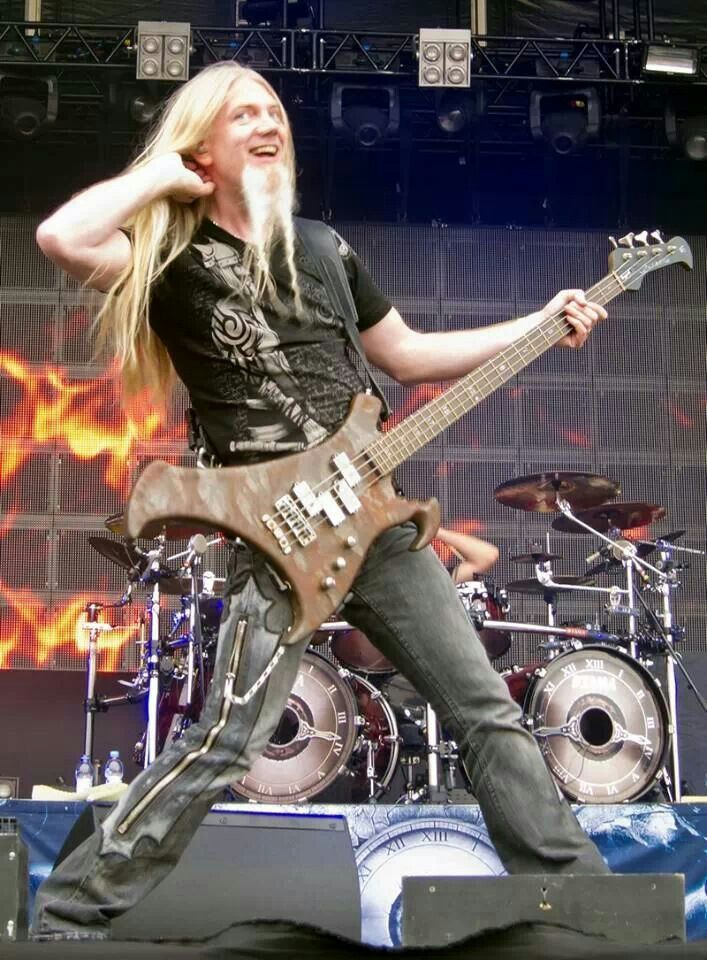 Marco Hietala - Nightwish.  [Funny. You have to remember, these are stage personas.]
