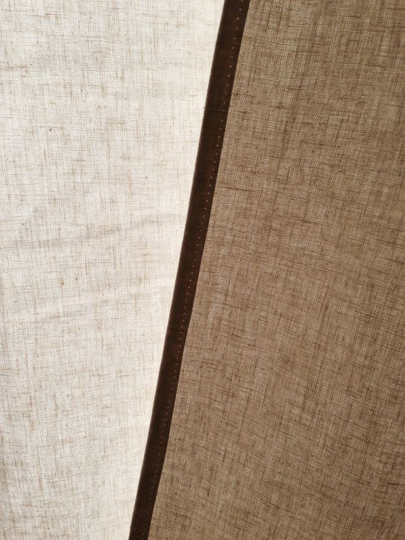 Hemp Shower Curtain Quick Drying, Lightweight Eco Fabric. // Choice Of Width
