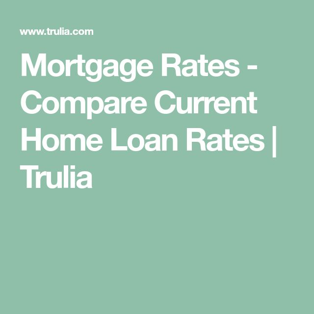 Mortgage Rates - Compare Current Home Loan Rates | Trulia
