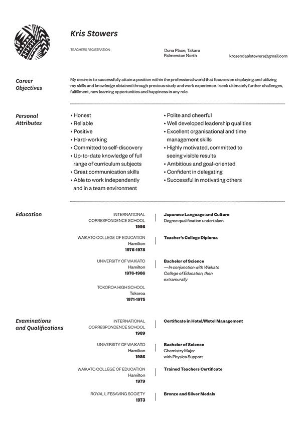 another linear take on a standard cv format. Resume Example. Resume CV Cover Letter