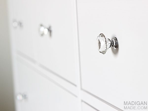 Crystal Drawer Knobs On IKEA HEMNES Dresser Beachy Cottage Master Bedroom