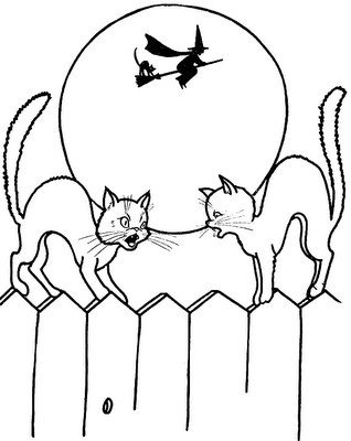 Halloween cats coloring pages - kittens | Halloween/Fall Color By ...