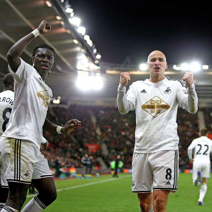 @Swansea Bafétimbi Gomis & Jonjo Shelvey #9ine