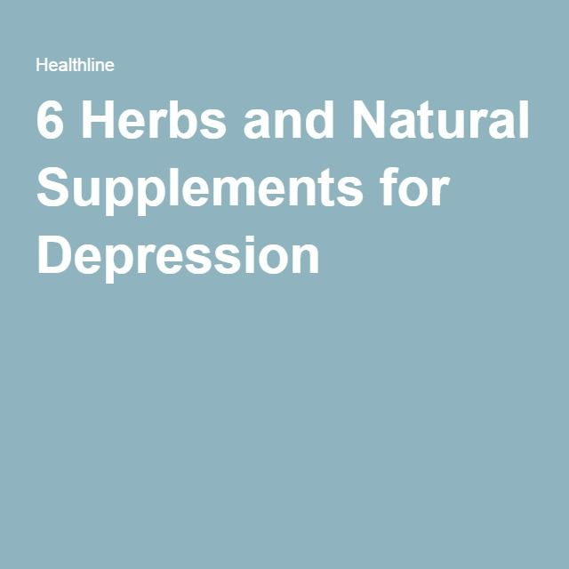 6 Herbs and Natural Supplements for Depression
