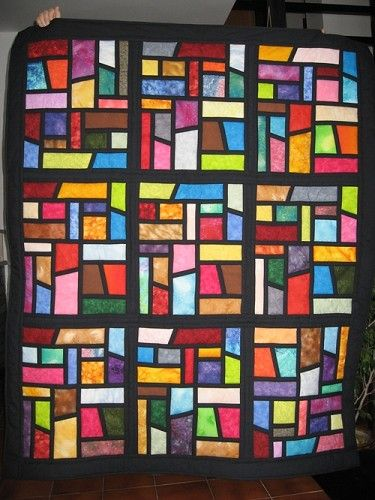 Stained+Glass+Quilt+Blocks | STAINED GLASS QUILTING PATTERNS « Free Patterns