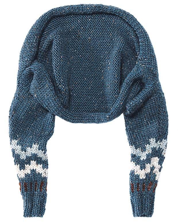 Den Bolero mit Muster kann man schnell überziehen, wenn's kalt wird, und genauso schnell ist er auch gemacht: zwei Ärmel glatt rechts stricken, die im ...