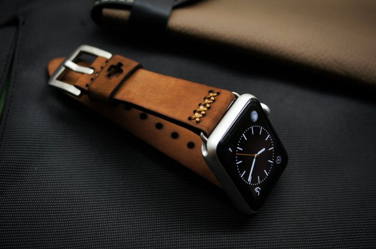 Handmade Vintage Leather Strap BF08 incl. Lugs Adapter for Apple Watch (or Apple Watch Sport) 42mm or 38mm (89.90 USD) by BlackForestAtelier