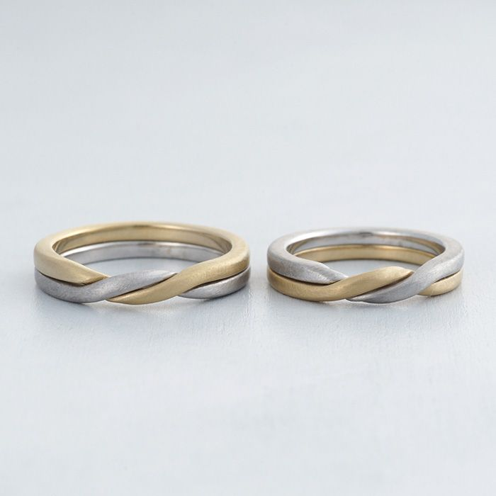【ithマリッジリング】K18(ゴールド),Pt900(プラチナ),ギメルリング/マリッジリング:Gemelli(ジュメーリ)  [marriage,wedding,ring,結婚指輪,ウエディング]
