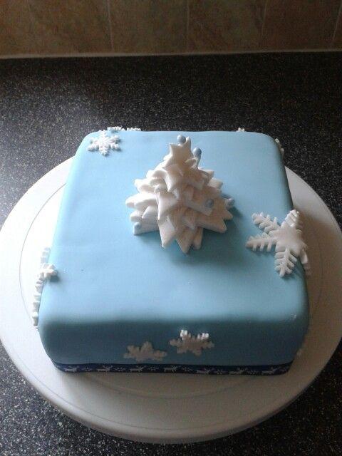 White Christmas Tree with Snowflakes. .