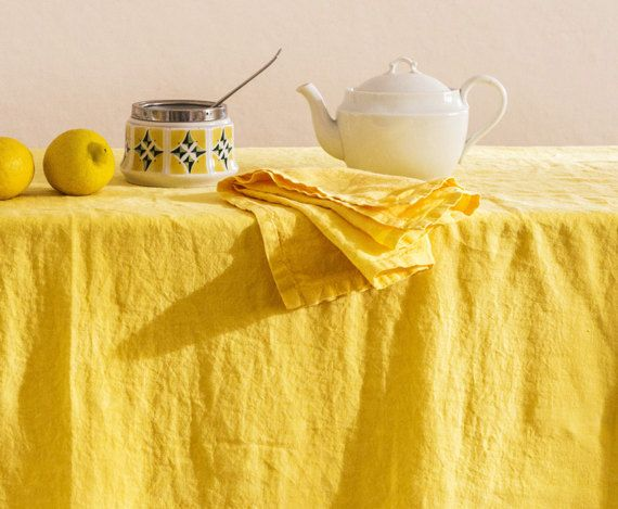 Pure linen tablecloth. GARMENT DYED. First class by vydravolkmer