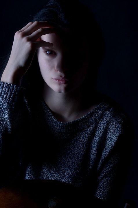 Girl, Depression, Sadness, Hair