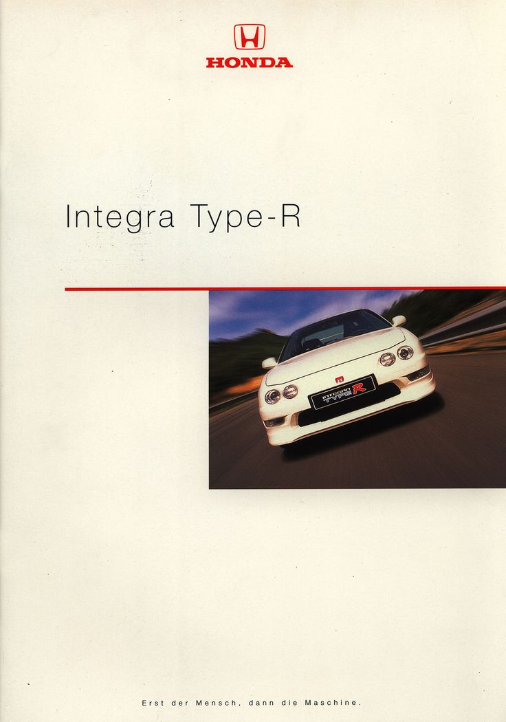 https://flic.kr/p/EH6cQJ | Honda Integra Type-R; 1999_1 | front cover car brochure by worldtravellib World Travel library
