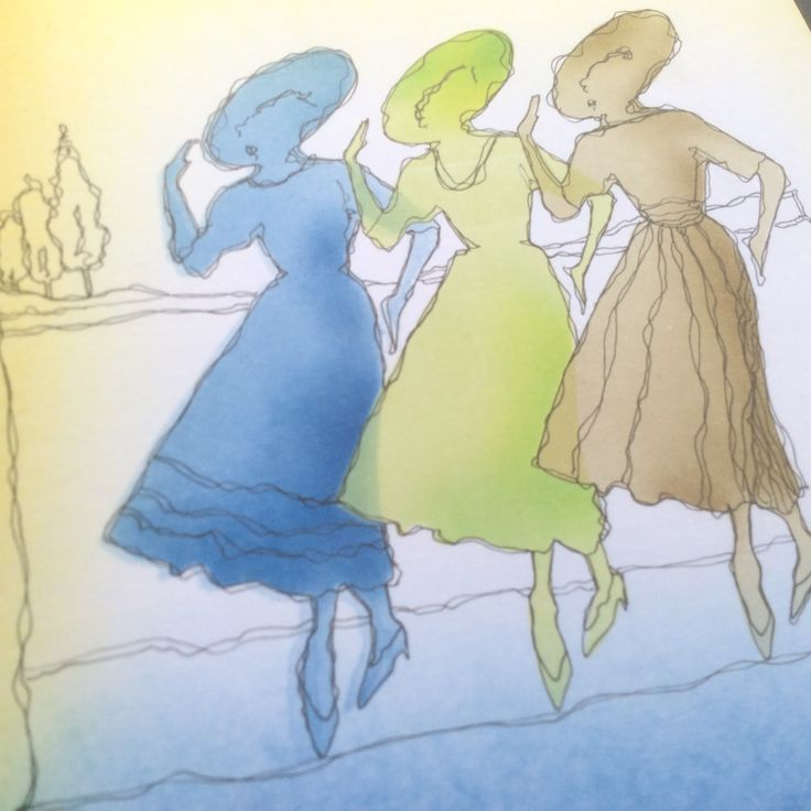 Barbara Gray's Blog. One Day at a Time.: Trois Mademoiselles...