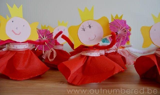 Knutselen met peuters - Prinses knutselidee met papier en karton
